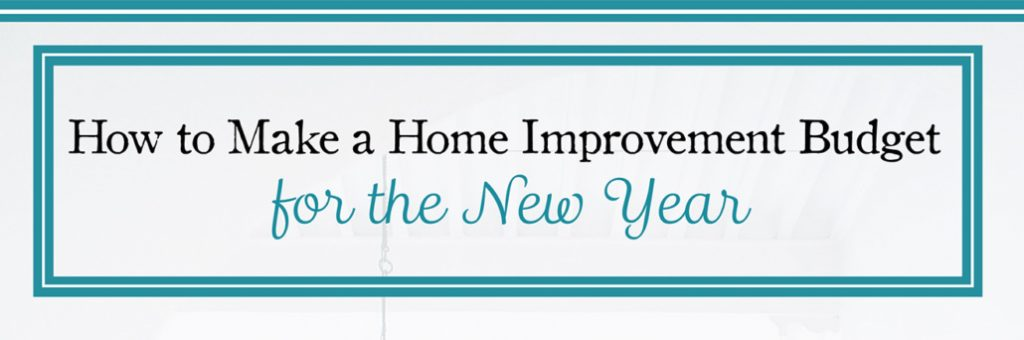 Create Home Improvement Budget